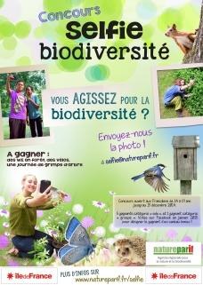 Affiche concours selfie Natureparif