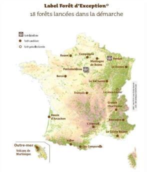 Carte 18 forêts d'exception