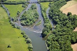 Le Doubs et le canal du Rhône au Rhin Doubs France -  - A Rang -